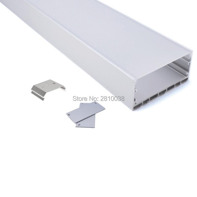 50 X 2M Sets/Lot Office lighting led linear profile Larger wide U frame aluminium led housing channel for suspension lights