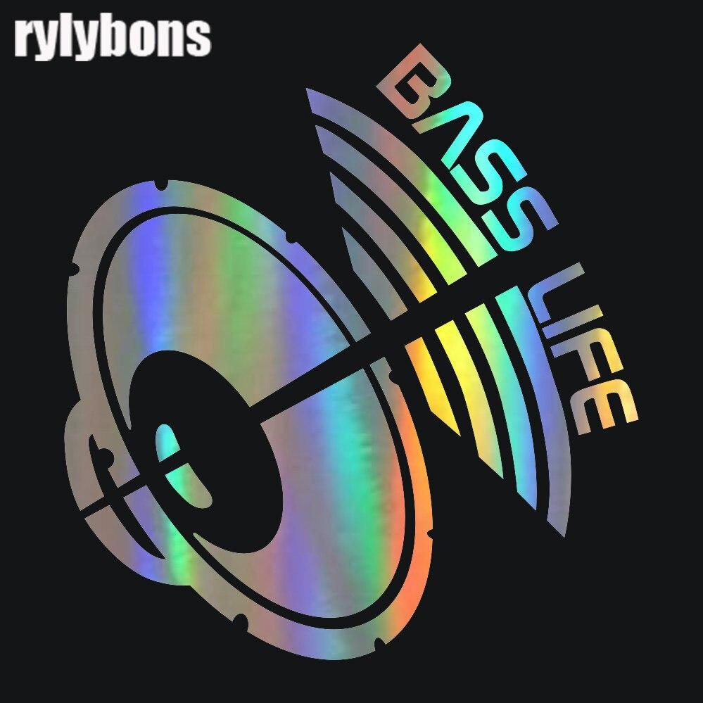 Rylybons 2-я половинная цена 20*18,9 см Басс жизнь забавная Автомобильная наклейка авто-Стайлинг 3D наклейки виниловые автомобильные наклейки и наклейки