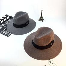 Retro fashion sun shade hat lady hat warp knitted summer hat outdoor sun hat