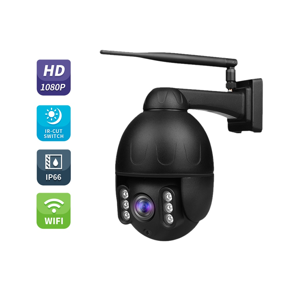 Cámara domo al aire libre 1080P WIFI aleación de aluminio vivienda PTZ cámara IP de seguridad Auto alerta IR visión nocturna Audio bidireccional