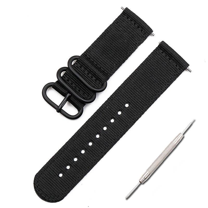 Pulseira de náilon acessórios de relógio masculino para suunto 9 baro esportes ao ar livre mergulho só pode ser cinta feminino 24mm pulseira de relógio