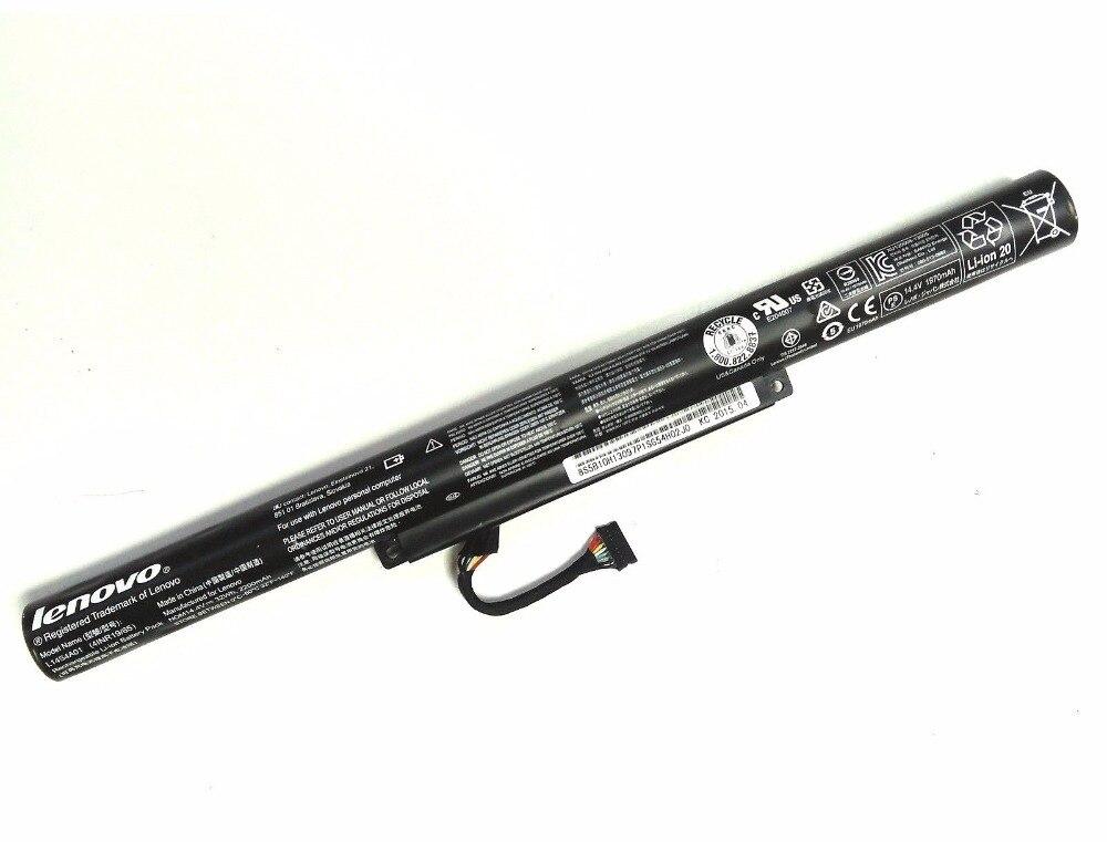 Nouvelle Batterie Dorigine pour Ordinateur Portable pour LENOVO Z51-70 V4000 G51-70 Yoga 500-14ACZ L14L4E01 L14S4A01 L14L4A01 14.8V 2200mAh