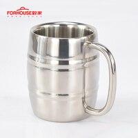 Кружка пивная из нержавеющей стали 400 мл, кружка для чая в западном стиле, кофе, с ручкой, изолированная портативная чашка для воды, посуда дл...