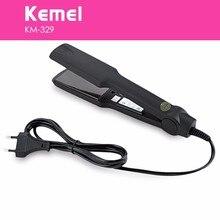 Alisador de pelo eléctrico profesional con caja alisador de pelo km-329 plancha plana calentamiento rápido estilo envío gratis Kemei