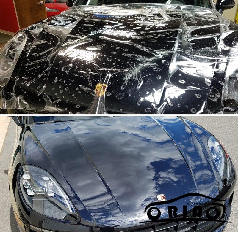 La curación de lujo PU vinilo para protección de pintura de coche película mejor transparente PPF con 3 capas de ORINO tamaño 1,52*15M/Roll