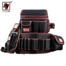 LIjian outil bagtélécommunication support électricien 600D étanche à leau tissu Rivet fixe sac à outils ceinture utilitaire Kit poche