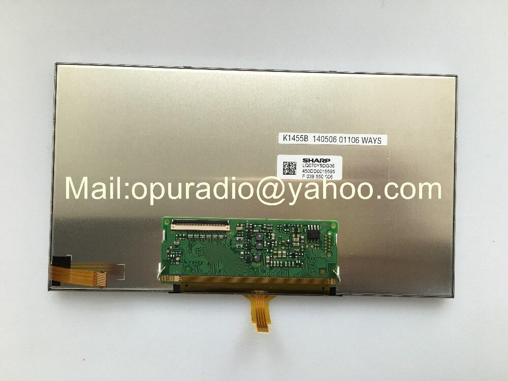 Nueva pantalla LCD Sharp de 7 pulgadas LQ070Y5DG36 con panel de pantalla táctil para GPS para coche monitor táctil LCD de navegación