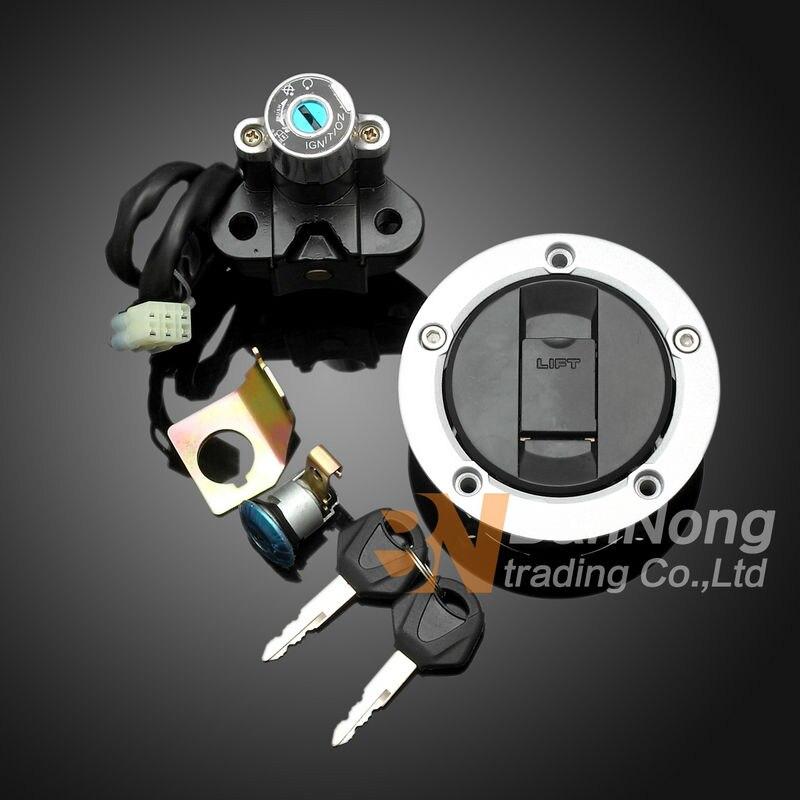 Interruptor de encendido para motocicleta, tapa de Gas, llave Seat, conjunto de bloqueo para Suzuki GSF650 Bandit 2005-2012 GSF1200 2006
