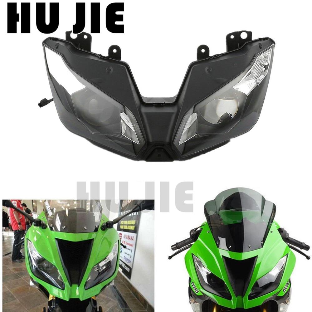 Nuevo para Kawasaki Ninja ZX-6R ZX6R 636, 2013, 2014, 2015, 2016, 13 14 15 16 Moto linterna reemplazar faro lámpara de iluminación claro