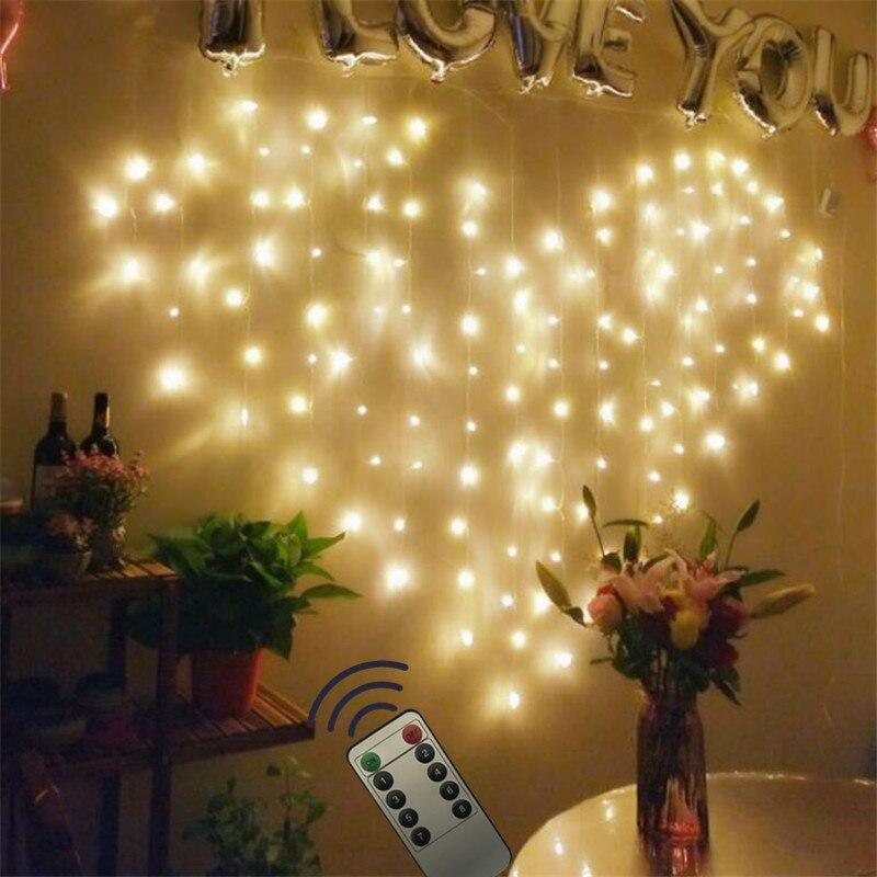 Amor Coração 2 remoto * 1.5M LEVOU Cortina Janela Guirlanda Guirlanda Valentine LEVARAM Luzes De Fadas Decoração Para O Feriado de Casamento salão de festas