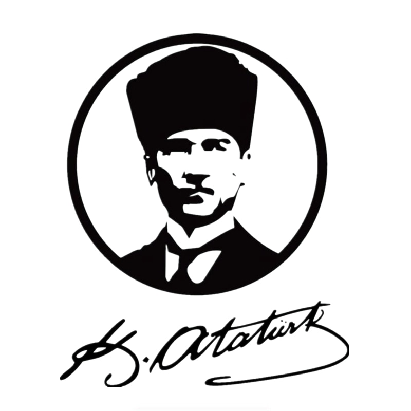 16*13.1cm Turkey Founder Mustafa Kemal Ataturk Car Sticker And Decals Funny Stickers Vinyl Decor Decals