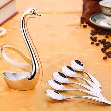 ZORASUN bonito vajilla creativo Cisne cuchara soporte Mesa Decro Decoración Para cuchara de café tenedores de fruta cuchara pequeña cocina