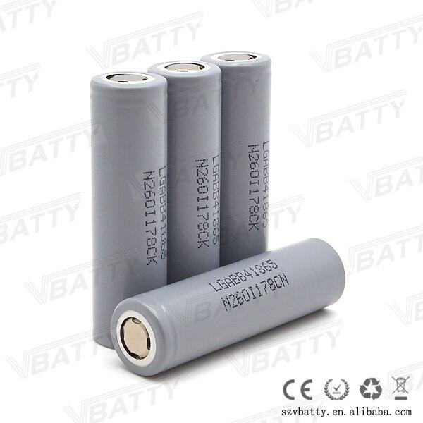 1pc Original 3.7v 18650 B4 rechargeable battery 2600mah li-ion unprotected for LG chem 18650B4 cell vs sanyo 2600 & icr18650-26f