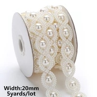 10yards5yards abs imitation pearl beads chain banding trim sewing for diy wedding party craft headband 25 designs choose