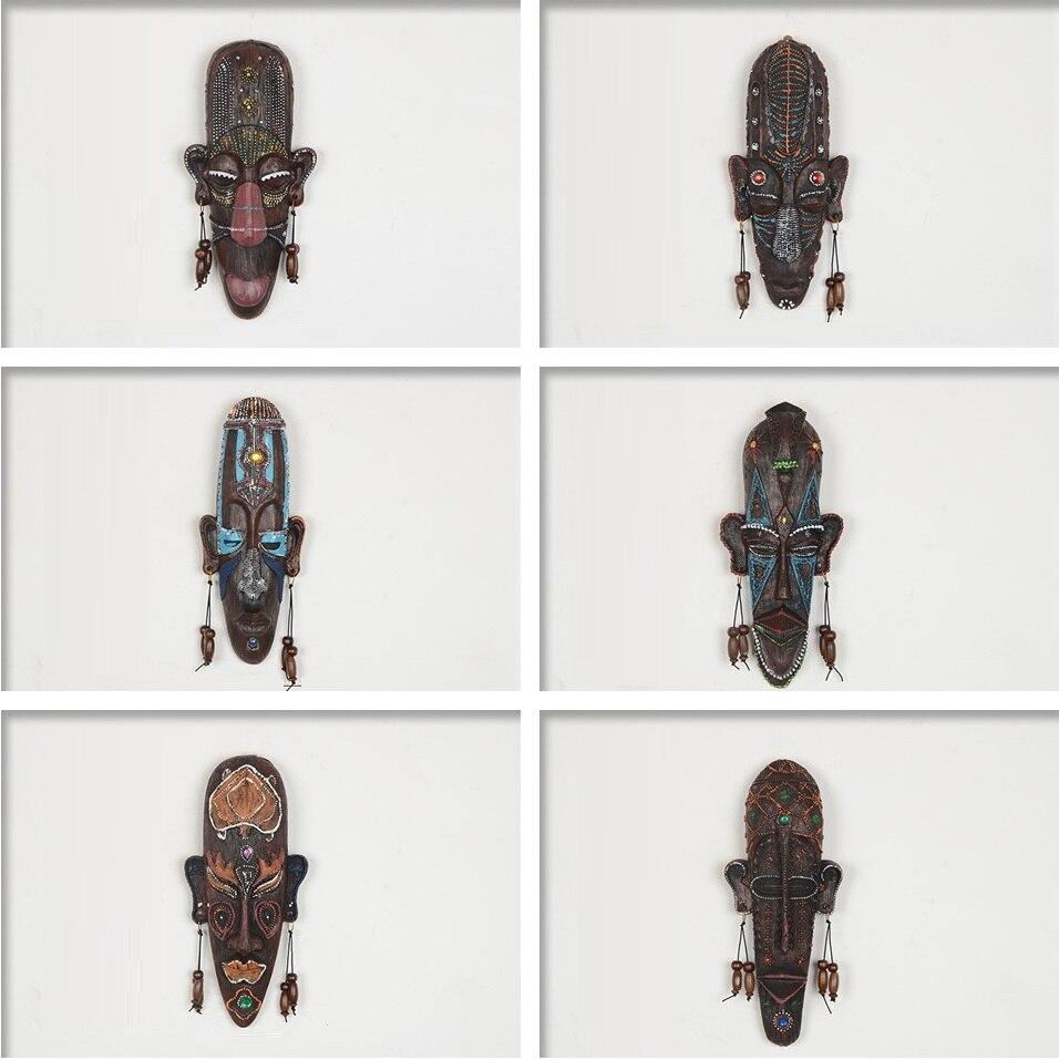 2 قطعة زكا البقالة 3D الإبداعية الراتنج الحرف الديكور هدية الأفريقي أقنعة للمنزل غرفة الجلوس جدار شنقا الديكور حقل المنحوتات