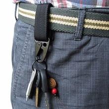 Military Nylon Webbing Backpack Hook Hanger Carabiner Kit Army Green Black Khaki Gear Survive Clasp Outdoor Tools