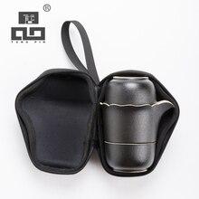 TANGPIN black crockery ceramic teapot with 2 teacups a tea sets portable travel tea sets