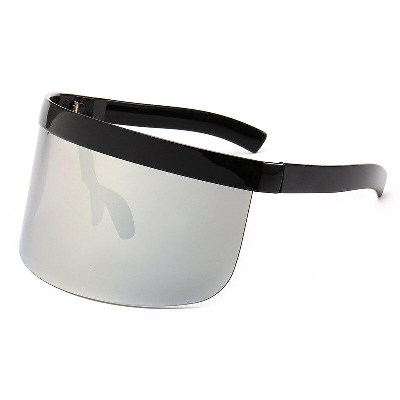 2018 De moda De gran tamaño máscara forma estilo protección gafas De Sol genial De calle, De tipo click diseño De marca De gafas De Sol, gafas De Sol De ZA-21