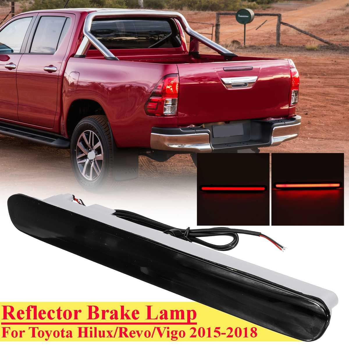 Luz de freno trasera de humo Led de coche para Toyota Hilux Revo Vigo 2015-2018 cola de parada media de alto freno lámpara de freno Accesorios