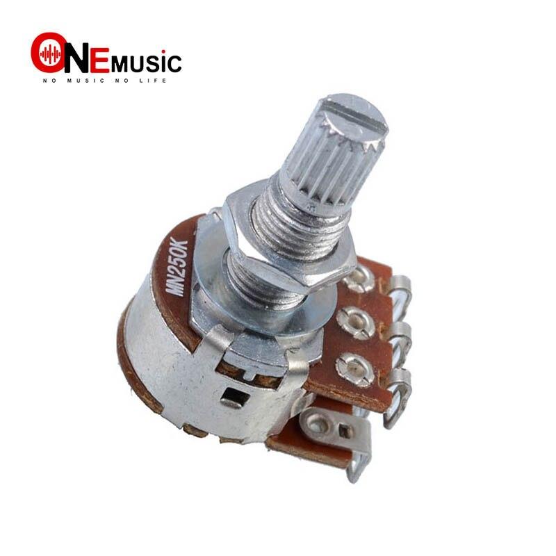3 шт., с двойным балансом, Накатанная стальная гитара, бас, регулятор громкости, Pots, переключатель потенциометра-MN25K-MN250K - MN500K
