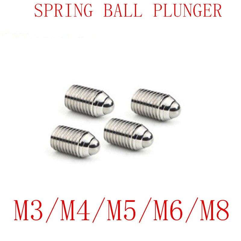 10 Uds rosca métrica M3 M4 M5 M6 M8 de acero inoxidable primavera émbolo tornillo