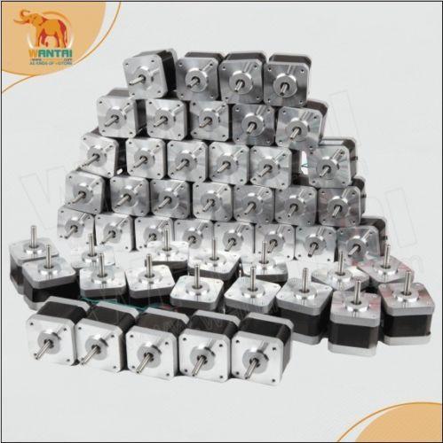 Nema17 pièces 0,48n. m(70oz-in)   48mm 2.5A 3.1V 48mm, arbre à D avec connecteur pour imprimante 3D, robotique 60 pièces