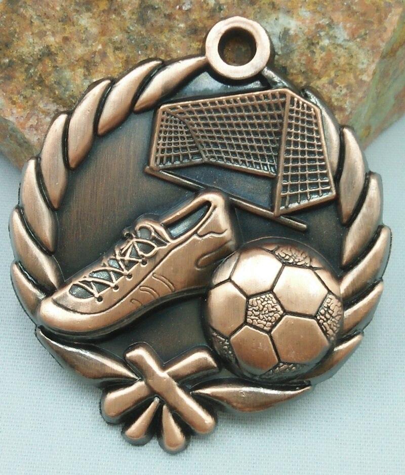 Medalla de la escuela de fútbol de jardín de infancia deportes oro plata MOVIMIENTO DE FÚTBOL comunicación capacidad/auto-confianza en el desarrollo de Metal