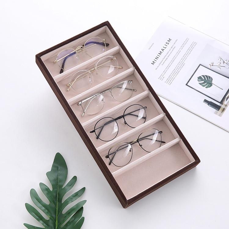 Прямая продажа с фабрики, 6 солнцезащитных очков, витрина, шкатулка для хранения, витрина для очков, витрина