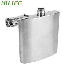 HILIFE Hip Flask Vodka Rum Portable Stainless Steel Flagon Wine Whisky Pot Bottle 1oz-10oz
