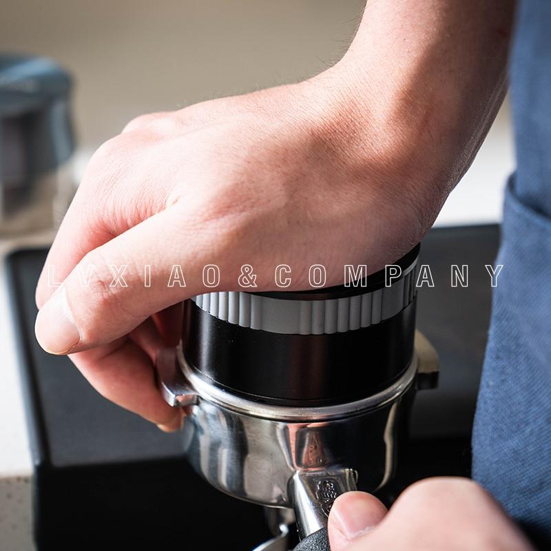 Watchget Flat Press Rebound 58mm Stainless Steel Coffee Powder Espresso Bean Tamper Press Hammer Coffee Distribution Tool Coffee Tampers Aliexpress