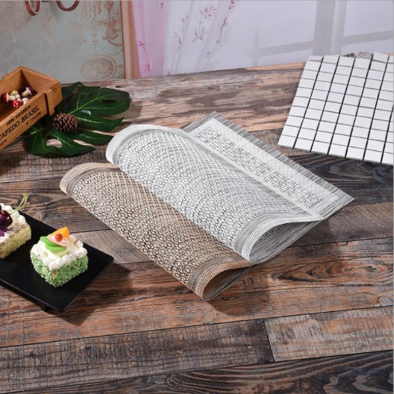 4pcs/lot Placemat Exquisite Pvc Tablemat Waterproof Slip-resistant Heat Insulation Dining Table Mat Disc Pads Bowl Pad