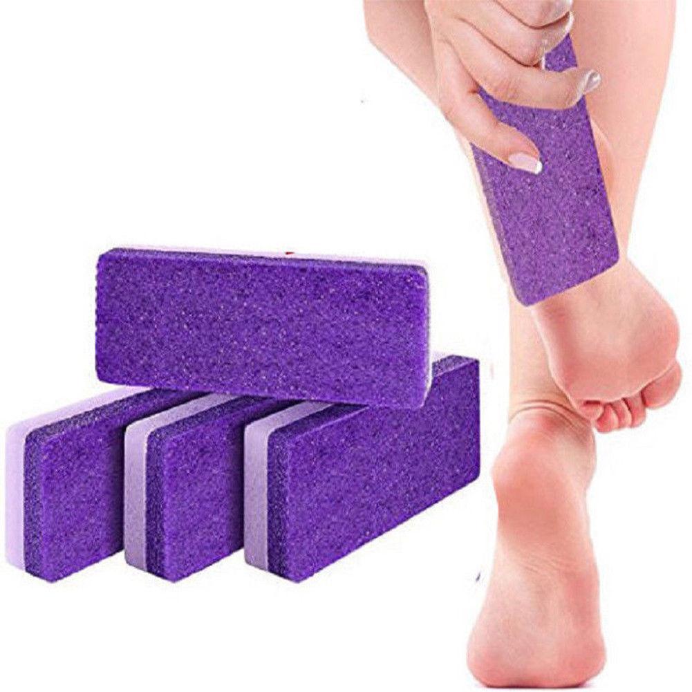 ¡Novedad! 1 Uds. Esponja de piedra pómez púrpura para raspar los pies exfoliar los pies piel seca muerta pedicura callo belleza Exfoliante para pie