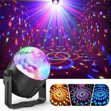 3W Mini DJ Light RGB Color Changing Sound Crystal Magic light Disco Ball Led Stage Lights KTV/Wedding Party Light