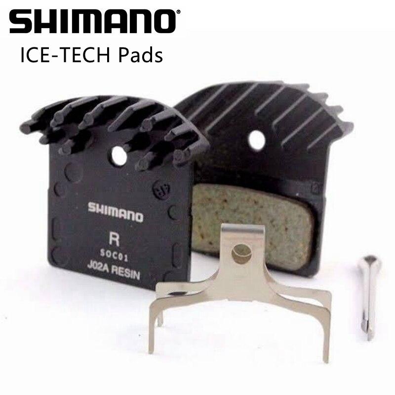 Shimano hielo tecnología J04C J02A freno de disco de almohadillas para Shimano xt... deore seis XTR M9000... M9020... M8000... M985... M785... M666... M610 frenos de disco