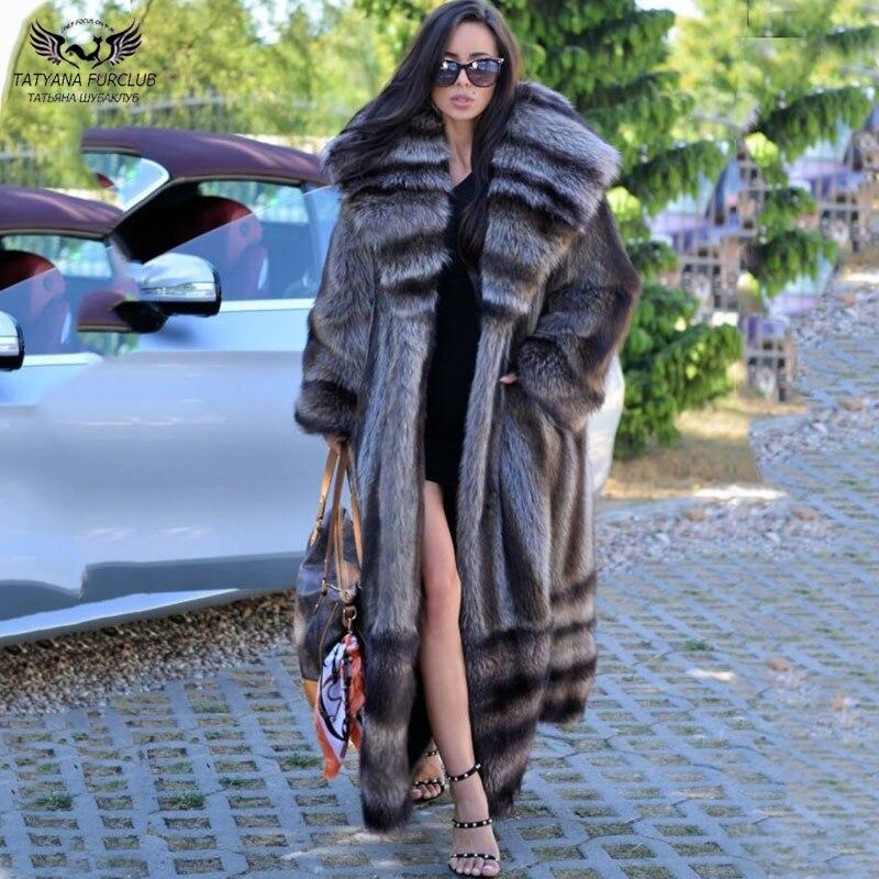 Женское длинное пальто из натурального меха енота, зимнее пальто из цельного натурального меха енота, теплая верхняя одежда, 2021