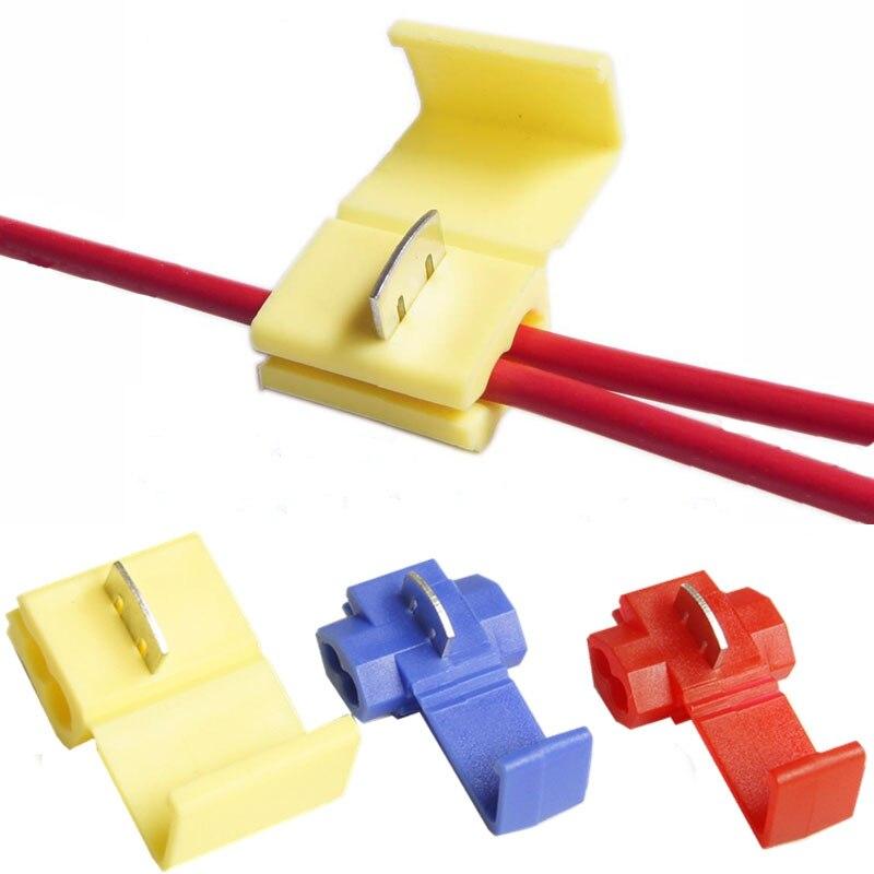 Conector de cable tipo de prensa divisor sin rotura de bloqueo escocés Terminal de engarzado de empalme rápido 22-10AWG