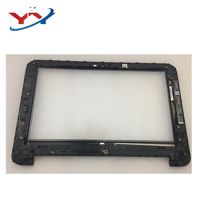 ل hp 11-N شاشة تعمل باللمس استبدال ل HP بافيليون 11 X360 11-N010dx 11-N010dx سلسلة محول الأرقام الزجاج لأجهزة الكمبيوتر المحمول مع الإطار