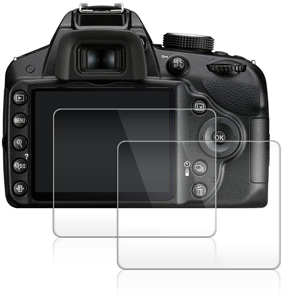 2 pacote 0.3mm vidro lcd protetor de tela para nikon d3500 d3400 d3300 d3200 d3100 câmera digital