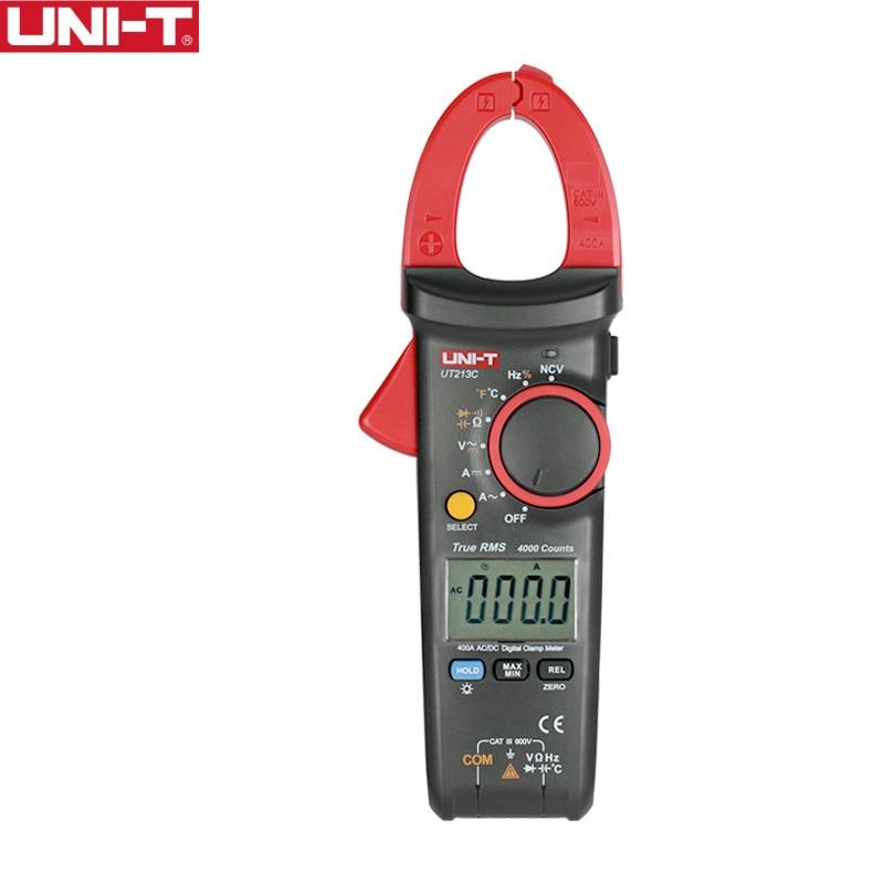 UNI-T UT213C 400A الرقمية المشبك متر الجهد المقاومة السعة المتعدد درجة الحرارة السيارات المدى المتعدد ديود trueRMS