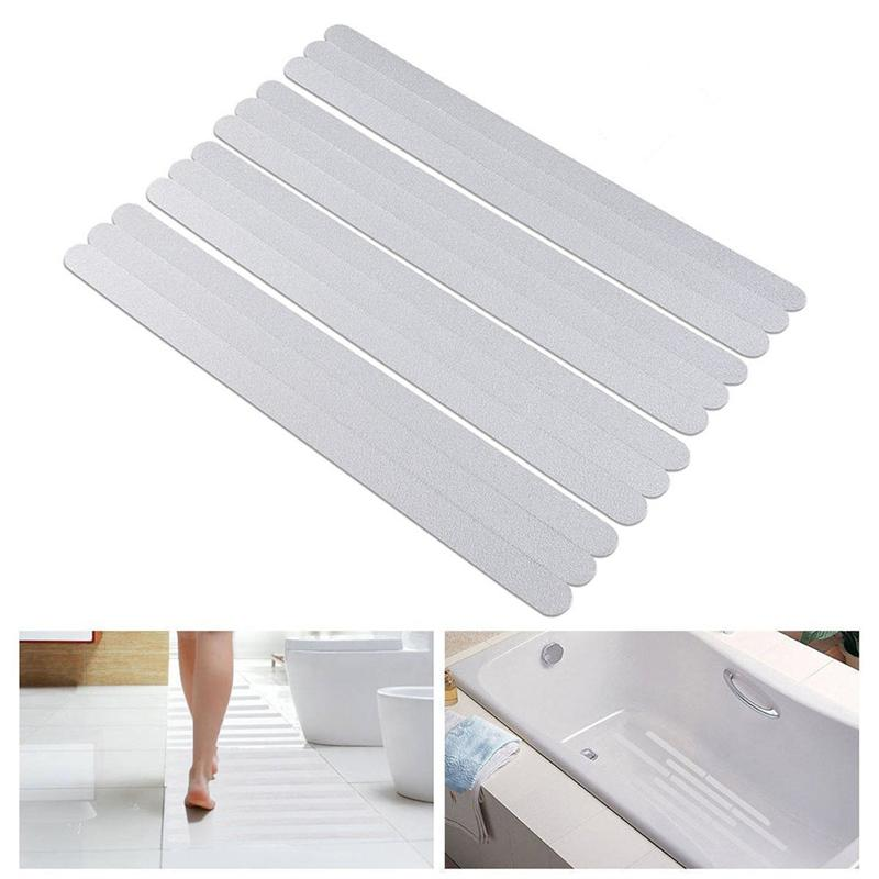6 uds tiras antideslizantes pegatinas de ducha tiras de seguridad de baño transparente tiras antideslizantes pegatinas para bañeras duchas escaleras