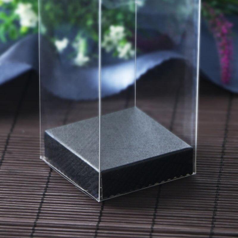 10 uds/1lot2019 nueva llegada PVC caja transparente 9*9 * H cm Rectangular caja de recuerdos de boda pequeño lindo juguetes de la muñeca pantalla y caja de embalaje