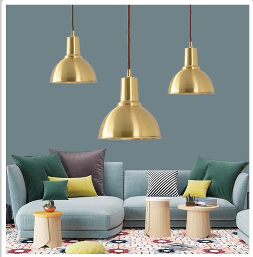 Post-modern mini copper Hanging Lamp stair pendant lights Luxury Nordic Single Luminaire Suspendu Bar counter suspension lights
