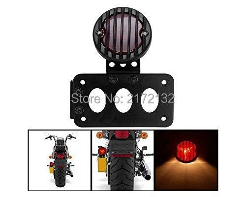 1 piezas de la motocicleta de acero placa de soporte de freno trasero cola lámpara de luz para helicóptero Bobber Cafe Racer Sportster 883