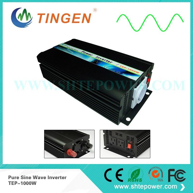 TEP-1000W решетки галстук мощность Инвертор AC выход 110 в 120 в 220 в 230 В с AU/EU розетка DC вход 12 в 24 в 1 кВт Чистая синусоида