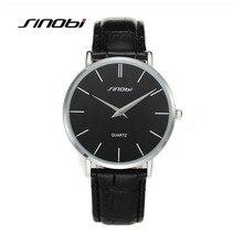 SINOBI Top marque montre à Quartz hommes en cuir véritable montres daffaires étanche 30 M montre homme heure montre homme relogio masculino