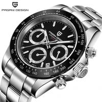 relogio masculino pagani design chronograph military watch luxury brand luminous sport quartz wristwatches for men reloj hombre