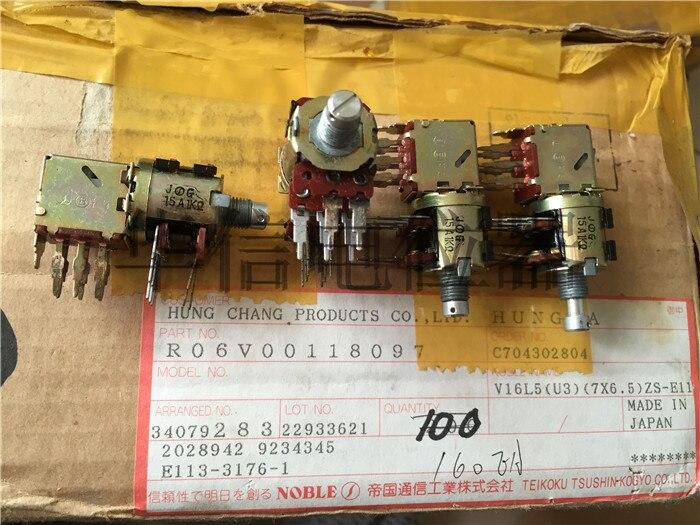 الأصلي جديد 100% 15A 1K أوم واحدة مشتركة مع مجموعتين من التبديل مقبض 10 مللي متر جولة أداة الجهد