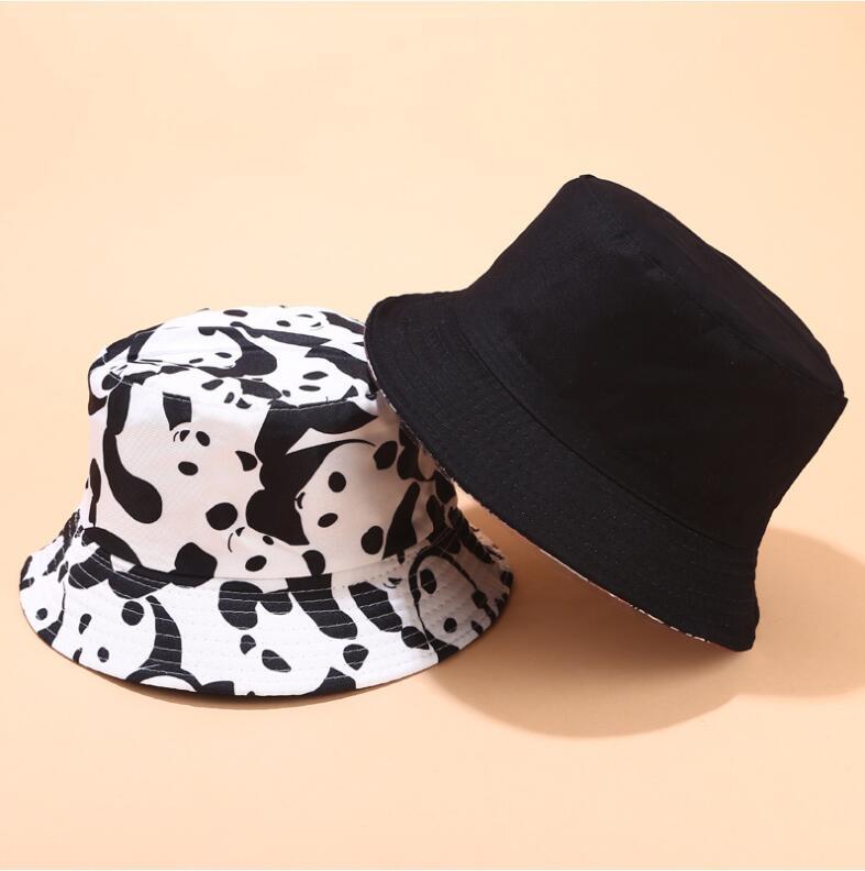 2019 Two Side Reversible Cartoon cat bucket hat for men women hip hop fisherman hat Adult panama bob hat summer lovers flat hat