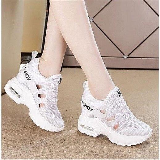 Zapatillas De Mujer, plataforma Dropshipping 2019, nuevas zapatillas Air crushion para Mujer, Sandalias De tacón alto, zapatillas planas De Mujer