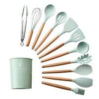 1 шт., силиконовая ложка для супа, лопатка, щетка, скребок, сервер для макарон, взбиватель яиц, кухонные инструменты, кухонная посуда зеленого/...